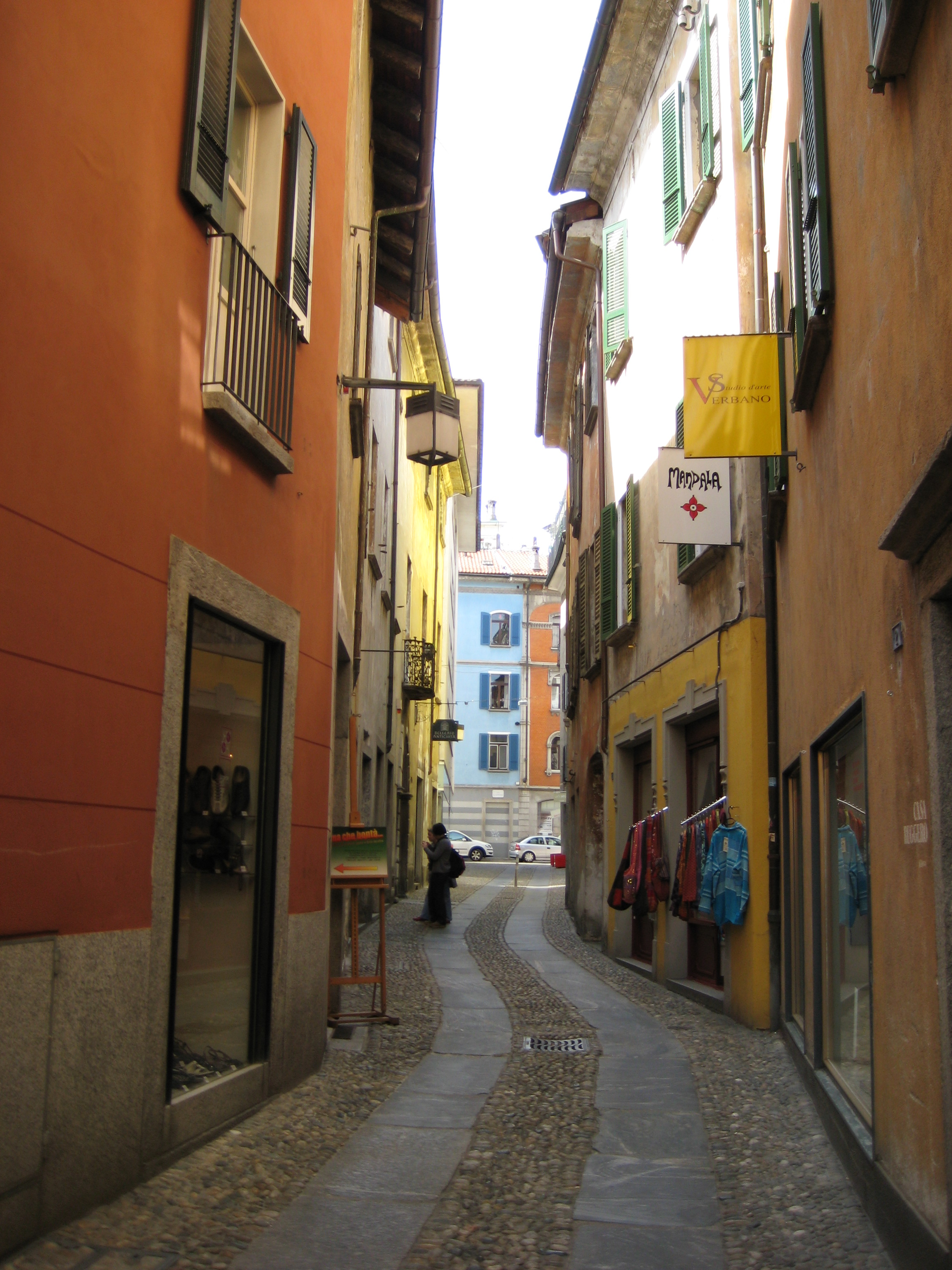 Street in Locarno with Karla's gallery