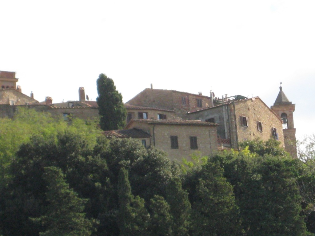 A typical hill town in Tuscany