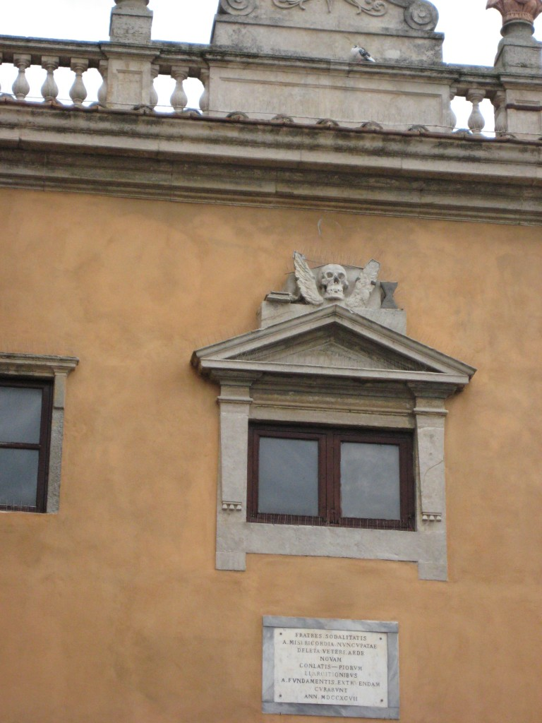 Skull with Wings in Volterra