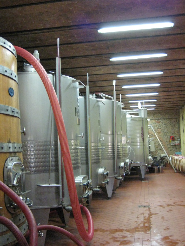 The fermentation tanks, a modern version of witches cauldrons